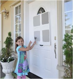 Good idea to try several colors first. painting front door