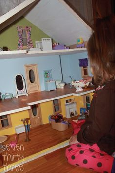 seven thirty three - - - a creative blog: DIY Doll House - How to make floors that look like real wood!