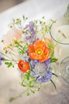 dainty, love the orange and lavender