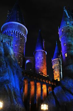 Universal Studios - Harry Potter World at Night