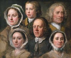 Heads of Six of Hogarth's Servants, c.1750-5, by William Hogarth. Tate