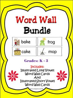 Word Wall Bundle - Vowel Sound #Vowels #Reading