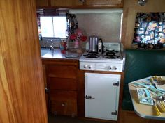 Come on in... We are all set up for you.   www.vintagetrailerstore.com  1954 Rainbow Trailer