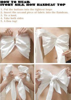 DIY bow bandeau top