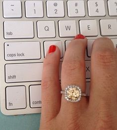 #greylikes engagement ring #champagne