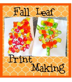 fall leaf print making for kids