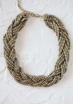 #fall Braided Infinity Necklace