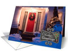 Chalkboard - New Home Christmas Greetings custom photo card by Simply Put by Robin