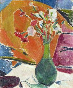 CUNO AMIET (1868-1961) Nelken Auf Orange, 1916
