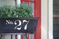 window box house numbers