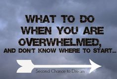 I'm sharing what I do when I'm overwhelmed and don't know where to start.