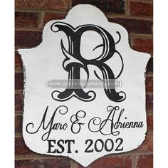 Monogrammed+Famly+Established+Distressed+Sign+by+SparkledWhimsy,+$35.00