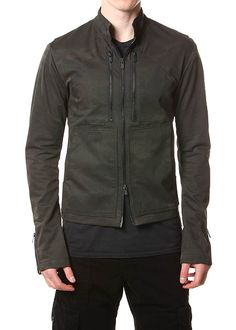 A camo print that is beautifully muted for an urbanized feel coats this heavy duty slim fitting jacket..