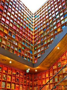 Picture Book Library in Iwaki City, Japan (with visible covers)