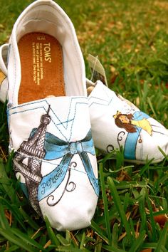 Custom Painted Toms #shoes $55