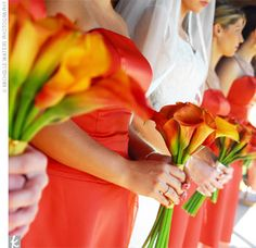 Bridesmaids bouquets.These were my wedding flowers. LOVE!