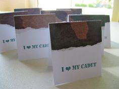 West Point Military Academy Army Mini Note Cards