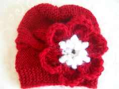 Baby Knit Hat  Baby Girl Hat  Baby Girl Knit by knittingparadise, $15.00