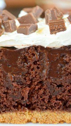 Chocolate Smores Pudding Cake