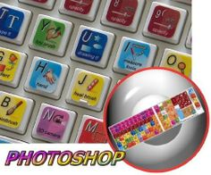Amazon.com: NEW ADOBE PHOTOSHOP KEYBOARD STICKERS FOR DESKTOP, LAPTOP AND NOTEBOOK: Office Products