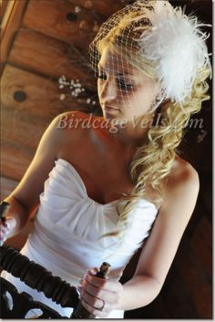 birdcage vail, $37 Emma Bold French Net Birdcage Veil... just used for hair example