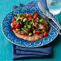 Fresh herbs and a grilled pita bring authentic flavor to this mouthwatering Mediterranean dish. Beans add a hearty dose of filling fiber. | Health.com