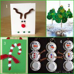 Christmas Crafts for Preschoolers #preschool #daycare #Christmas #crafts