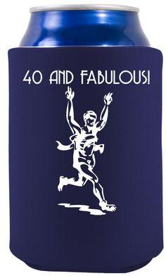 ... - 40th Birthday Party Ideas - Gift for runner's - Runner Koozie More