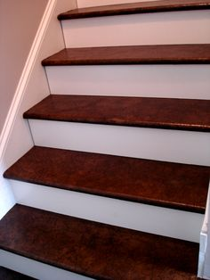 brown paper stairs walnut stain