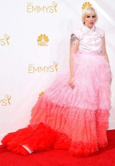 Lena Dunham from 2014 Emmys: Red Carpet Arrivals   E! Online