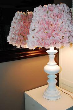 DIY Rose Lamp shade