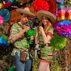 Fiesta photo-booth props make for muy bueno party pix!