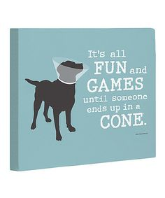 Take a look at the Blue & Gray 'It's All Fun and Games' Canvas on #zulily today!