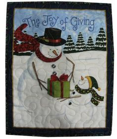 Winter Snowman Quilted Wall Hanging