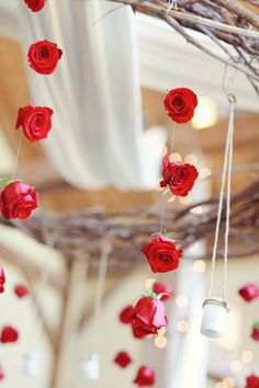 hanging florals // poppy red