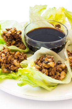 A.1. Thick & Hearty Beef Lettuce Wraps -- This quick weeknight ground beef recipe swaps out the taco shells for lettuce. Recipe and photo by blogger, Kimberly Schiffel, of www.BakeLoveGive.com.