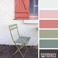 Color Palette: Pink, Green, White.  If you like our color inspiration sign up for our monthly trend letter - click the image for the link.