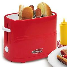 This #Hot #Dog #Toaster is a fast, fun and convenient way to enjoy #hotdogs any time! -- #kitchentech #kitchen #gadgets