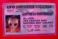 UFO drivers license