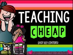 Pocket Full of Kinders!: Teaching Cheap-- Center Ideas and FREEBIES! You must check out this awesome center
