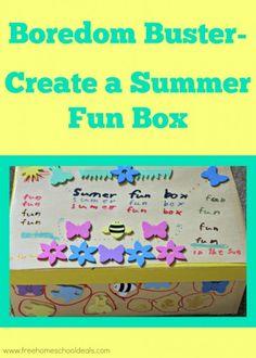 create a summer fun box