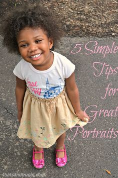 5 simple tips for great portraits | 4 Hats and Frugal