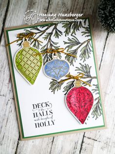 Colorful Christmas Gleaming Card – H MADE BOUTIQUE