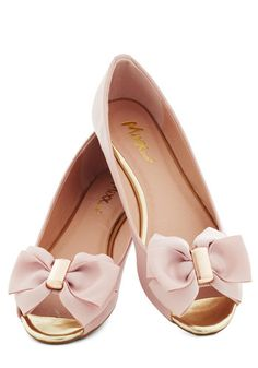 #pink flats with ribbon bow