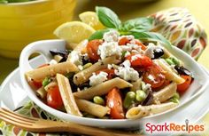 Greek Pasta Salad Recipe by SP_STEPF via @SparkPeople - 5 Points+