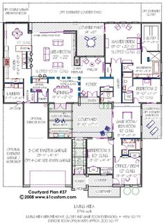 cool house plans with courtyard