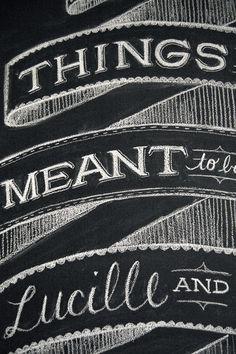 Dana Tanamachi | Custom Chalk Lettering