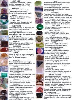 more crystal meanings