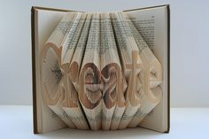 folded book pages!