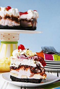 Banana Split ice cream cake!!!
